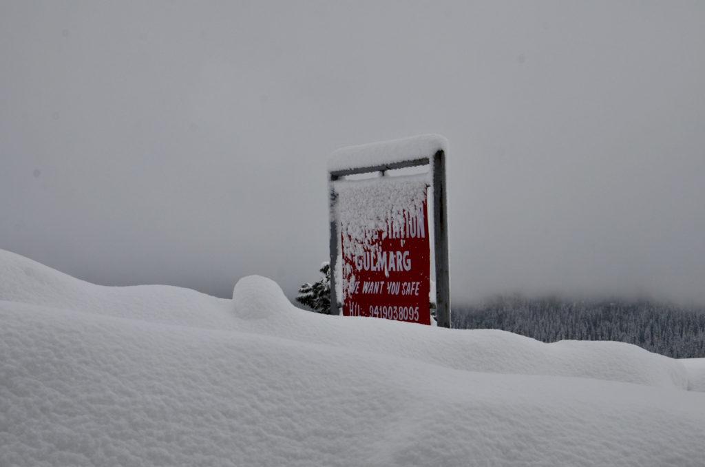 Gulmarg, Kashmir, signboard
