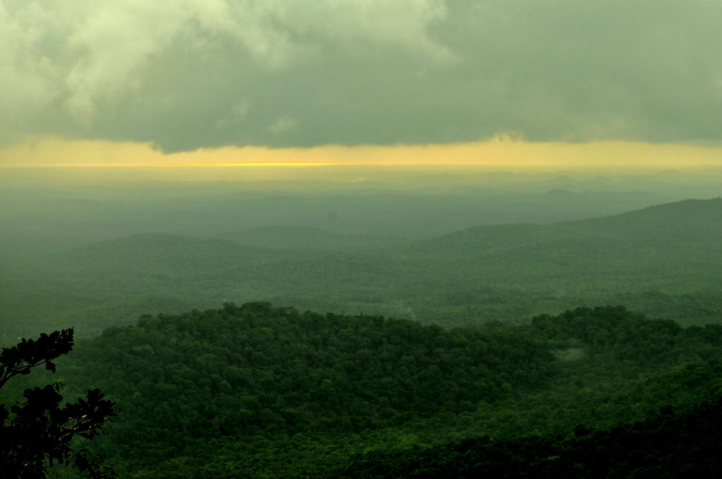 The Sunset point, Agumbe.