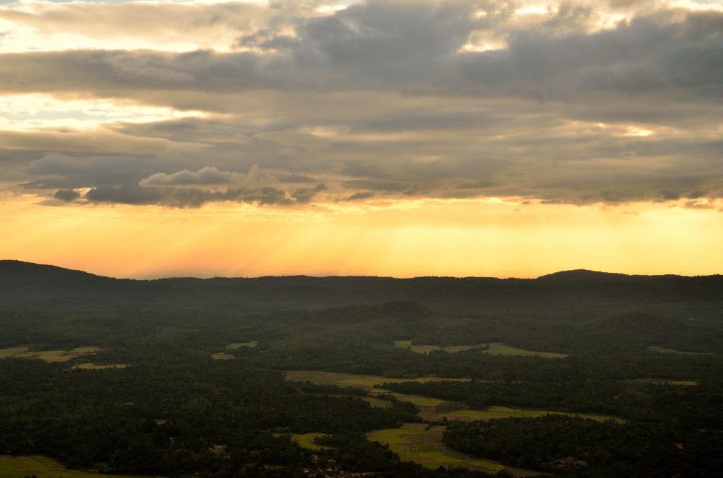 The Sunset at  Kundadri Hills, Agumbe.
