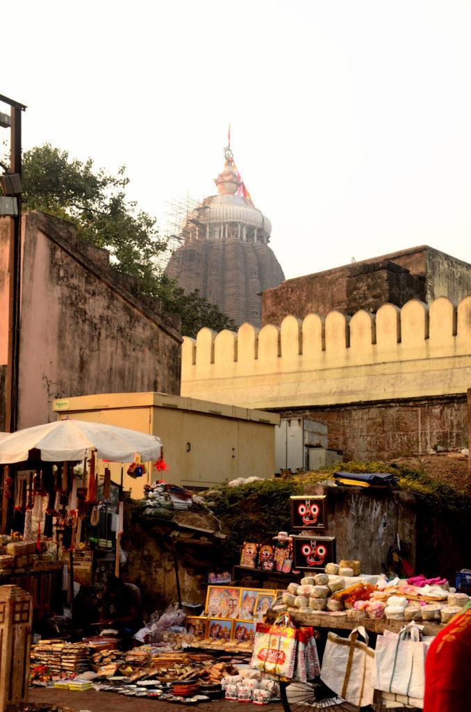 A glimpse of main temple of Lord Jagannath near the Ashwa Dwar