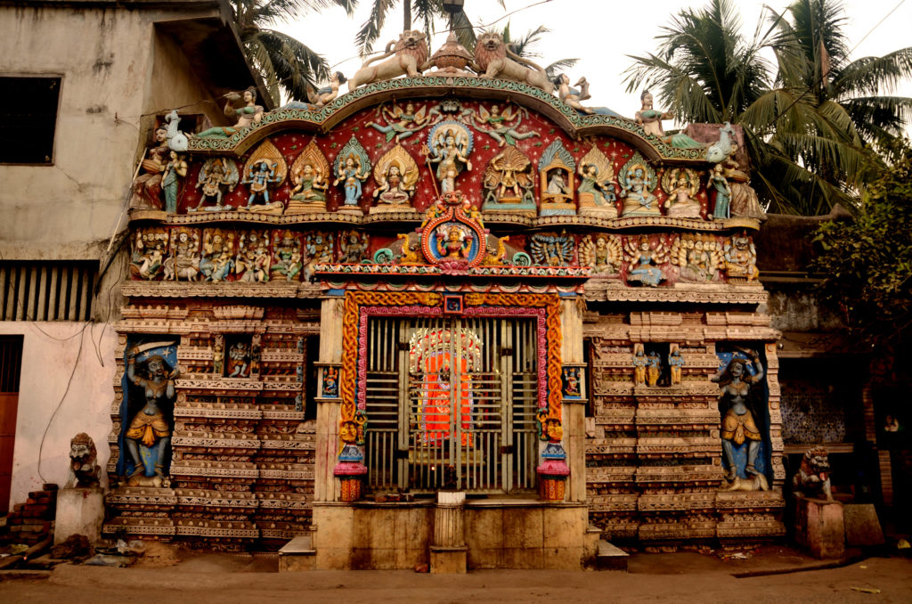 Colourful temples in Puri.