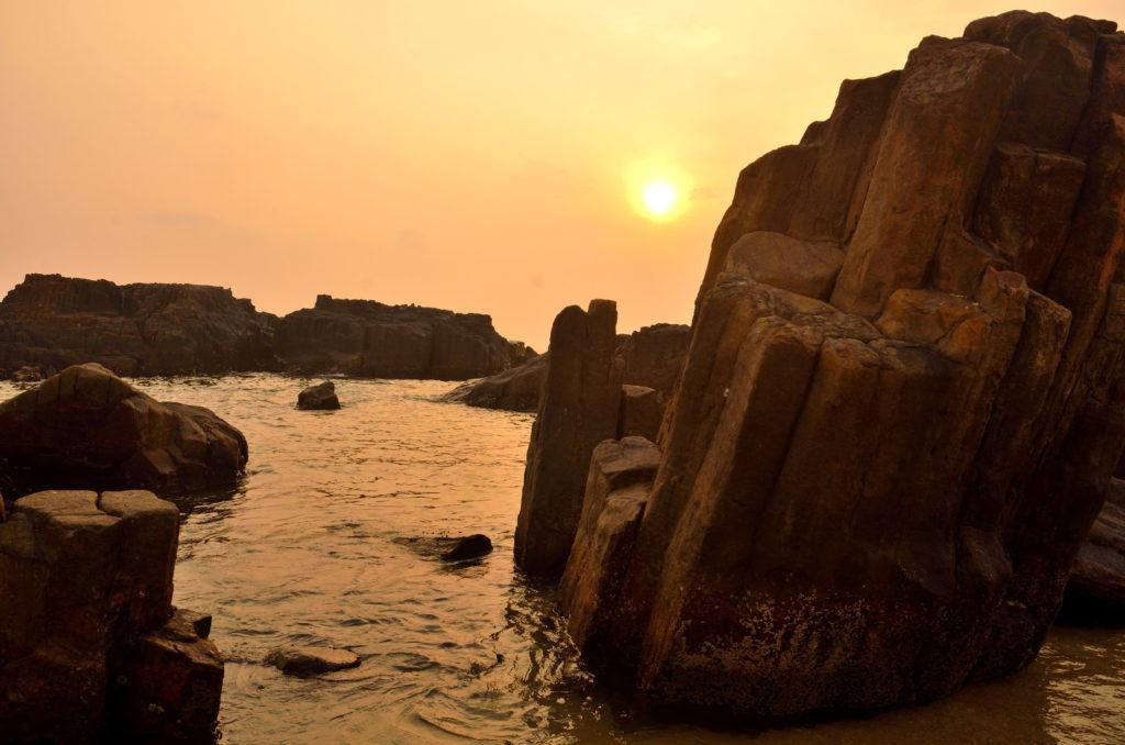 The Sunset at St. Marry Island, Karnataka, India.