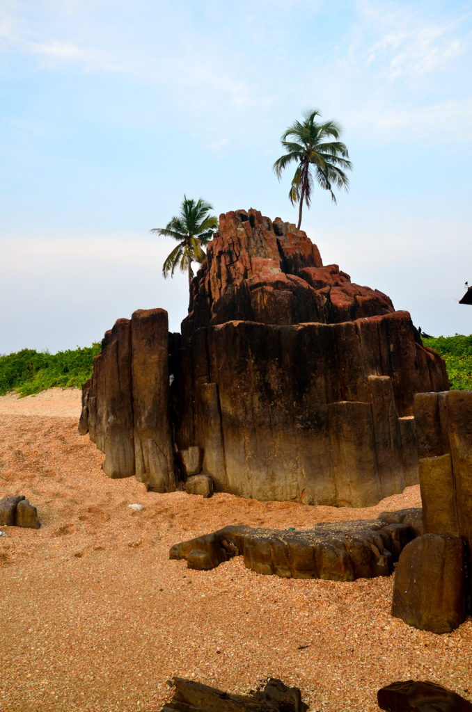 Rock formations are the main attraction of St. Marry Island.