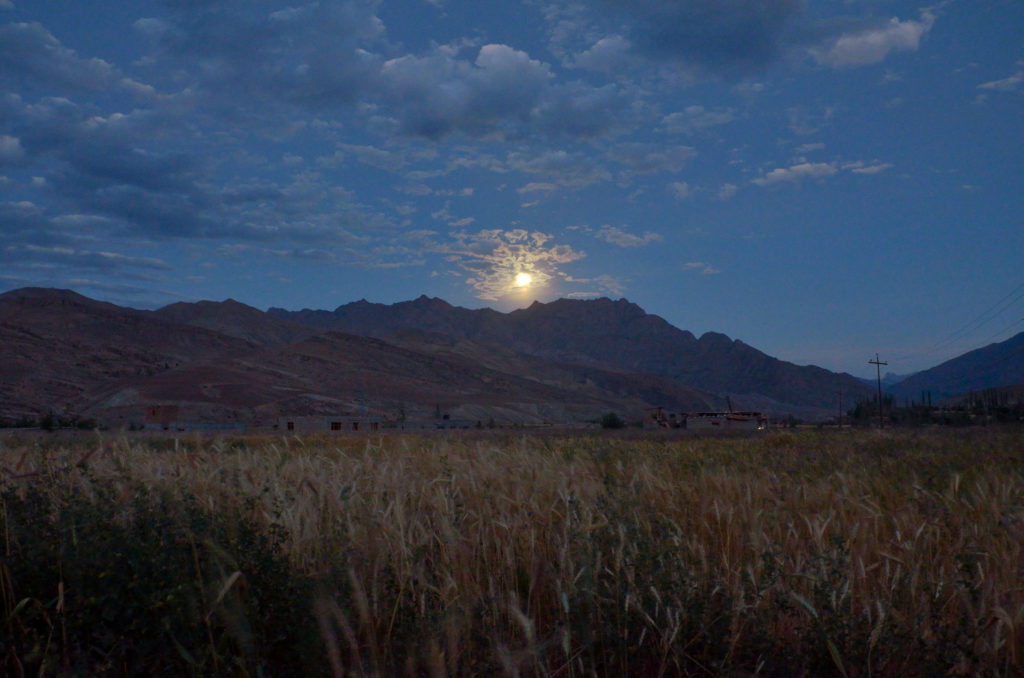 That's the Moon shining over the mountains at Kargil.