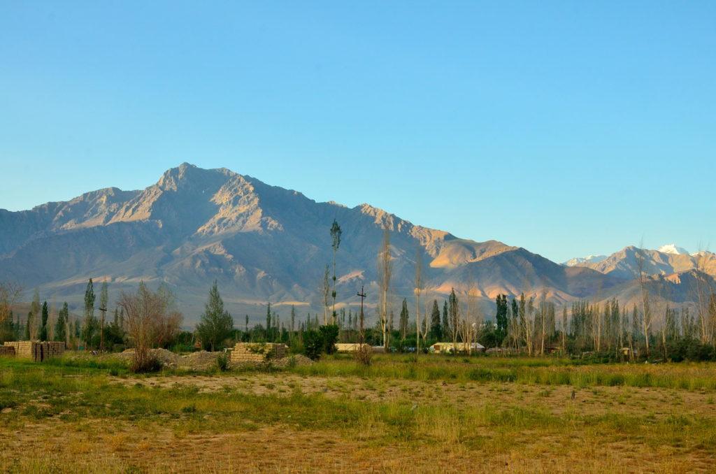 The early morning scene at Kargil.