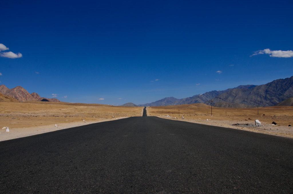 The road to Land of Lamas- Kargil- Leh Highway (NH 1D), before Leh.