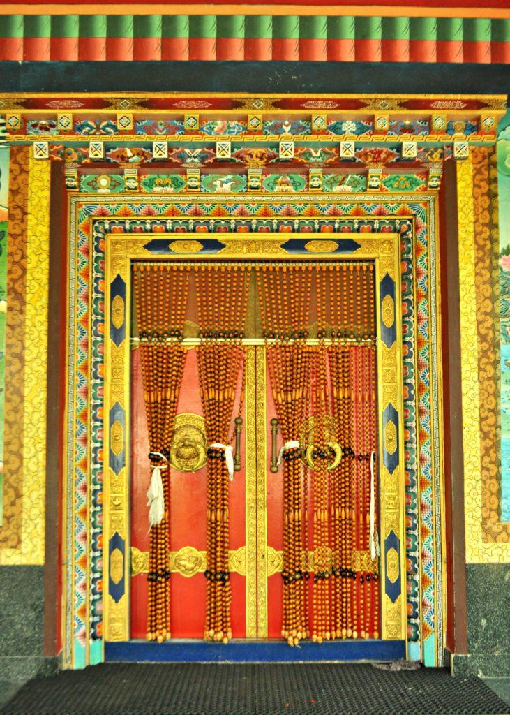 A beautiful door in Tibetan style
