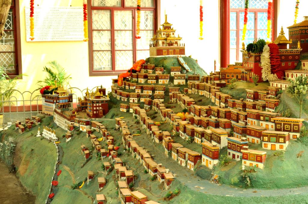 The model of Patola Palace, Lahsha, Tibet.