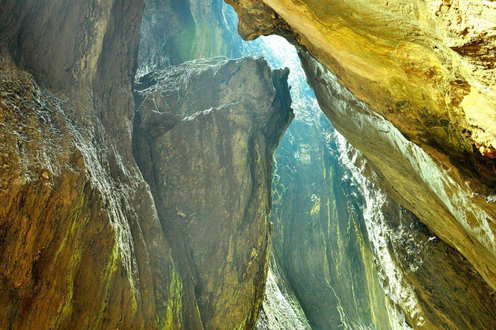 The cave at Yana, Karnataka, India.